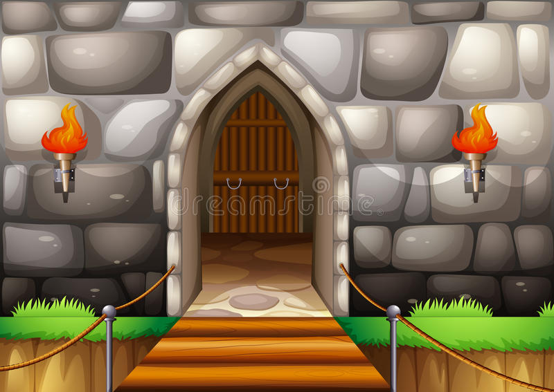 Entrance royalty free illustration