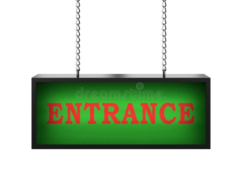 Entrance lightbox