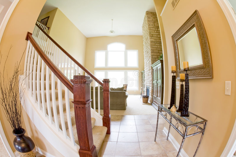 Download Entrance Into Living Room Stock Image