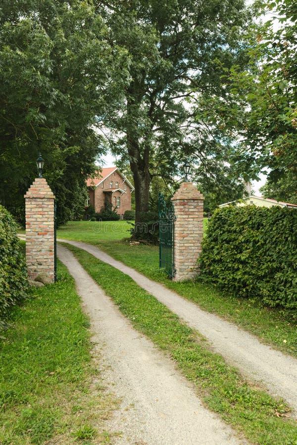 Download Entrance Of Manor Listed As Monument In Kirchdorf, Mecklenburg-Vorpommern, Germany Stock Image - Image of white, landmark: 103802173