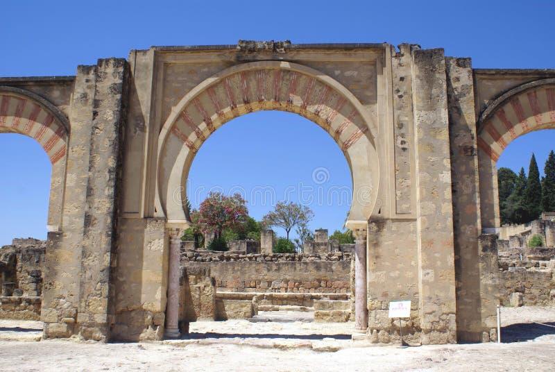 Entrance of Medina Azahara, Cordoba, Andalusia, Spain stock image