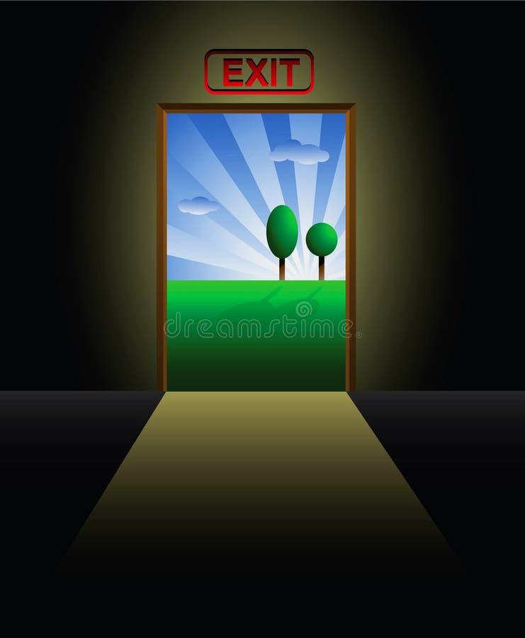 Entrance metaphor vector illustration