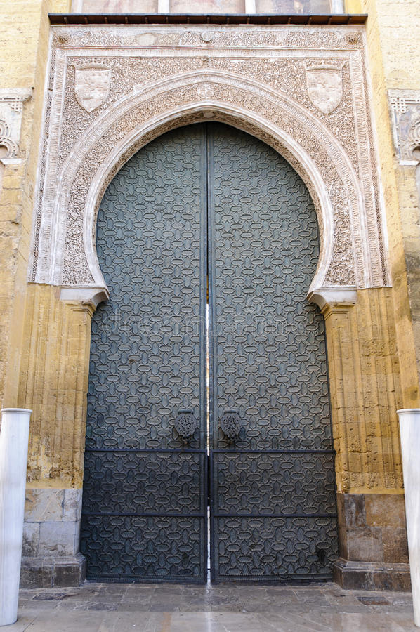 Entrance of the Mezquita in Cordoba, Spain stock images