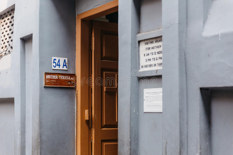 Entrance of the Missionaries of Charity in Kolkata, India. Entrance of the Missionaries of Charity in Kolkata, India stock photography