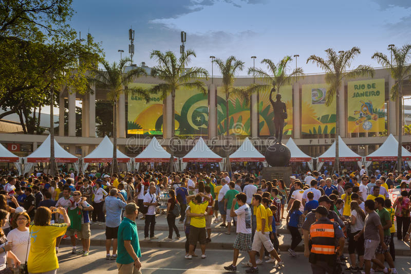 Entrance of the New Maracana Stadium stock images