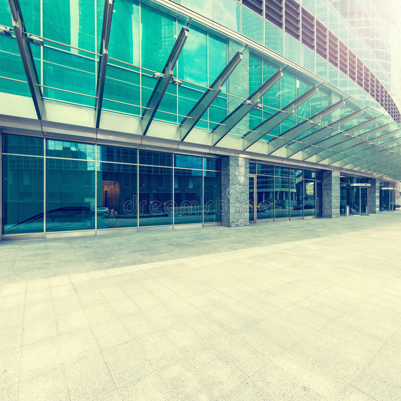 Entrance of the office building. stock image