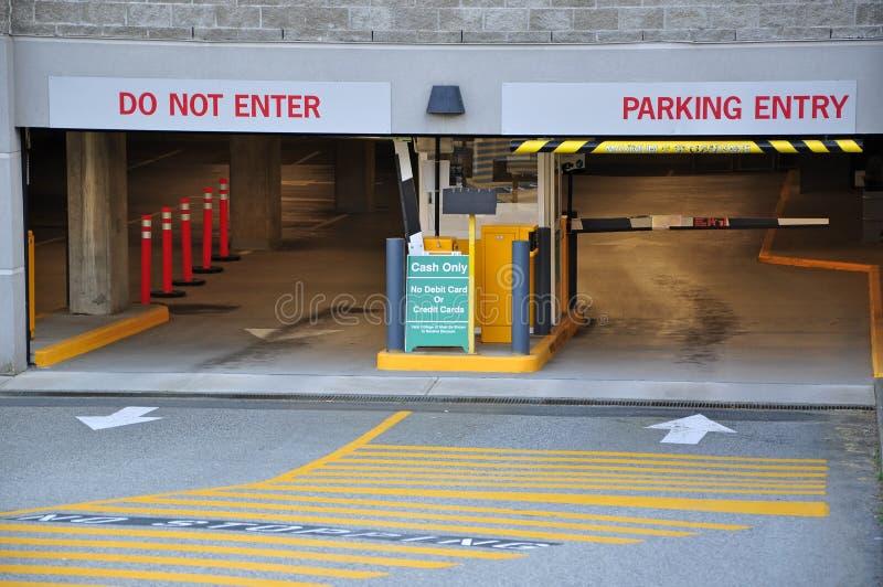 Entrance parking garage royalty free stock photos