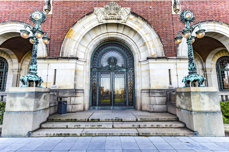 Entrance of the Peace Palace stock image