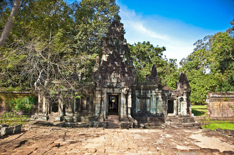 Entrance of Phimeanakas temple, Angkor Thom, Cambodia. The entrance in celestial Phimeanakas temple, dated from 11th century is part of the royal palace Angkor stock images
