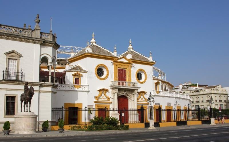 Entrance of the Plaza de Toros. (arena), Sevilla, Spain royalty free stock photography
