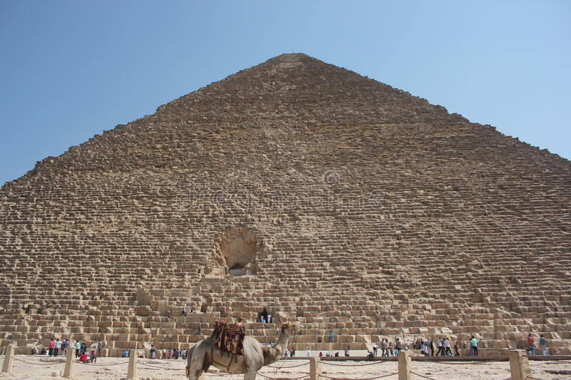 Entrance of the Pyramid stock images