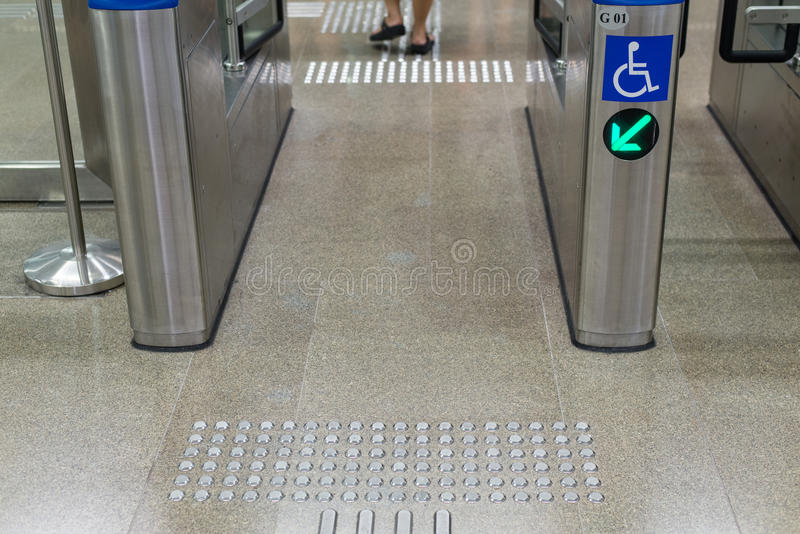 Entrance of railway station for cripple.  stock image