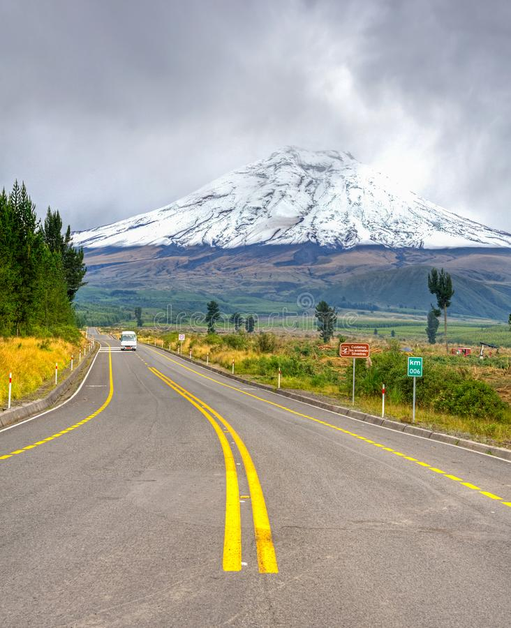 Free Entrance Road To The Cotopaxi Stock Images - 108326804