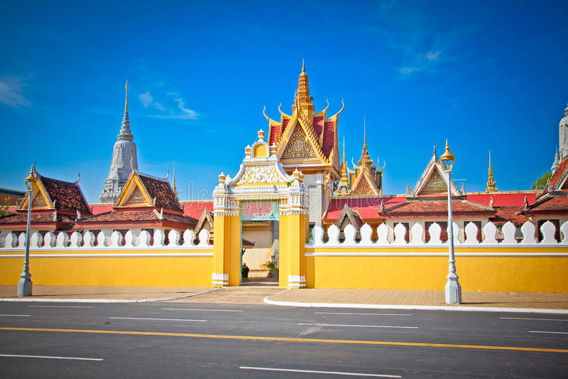 The entrance of Royal palace , Phnom Penh, Cambodia. The entrance of Royal palace in Phnom Penh, Cambodia stock photos