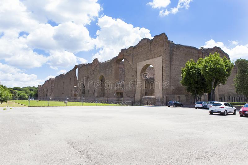 Ruins from Baths of Caracalla royalty free stock photos