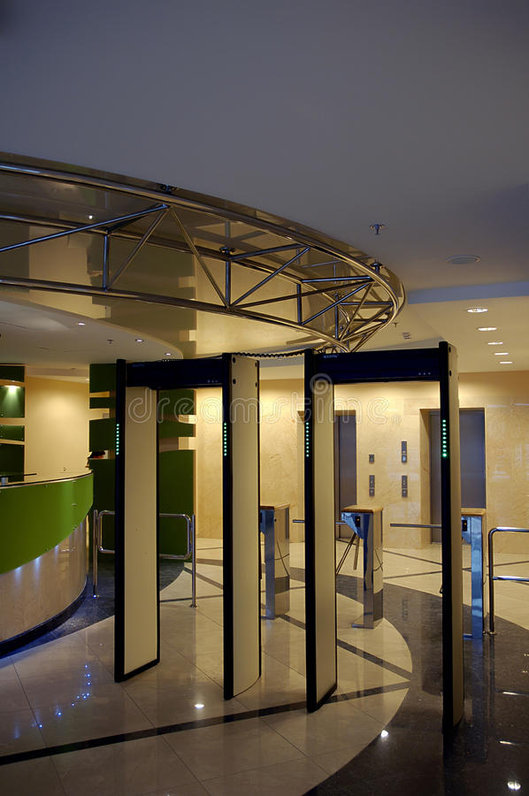 Download Entrance With Security Gate In Business Building Stock Photo - Image: 10178260