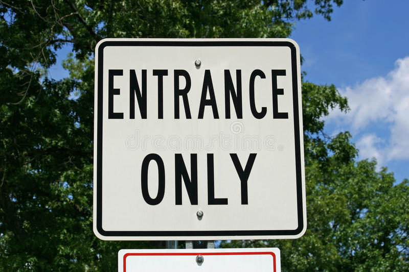 Entrance Only Sign royalty free stock photo