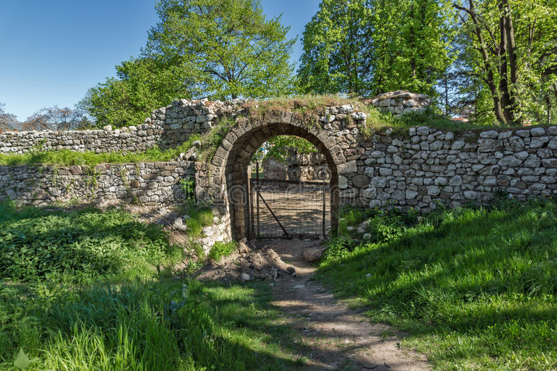 Entrance and Southeastern walls of Pirot Fortress, Serbia. Entrance and Southeastern walls of Pirot Fortress, Republic of Serbia royalty free stock photography