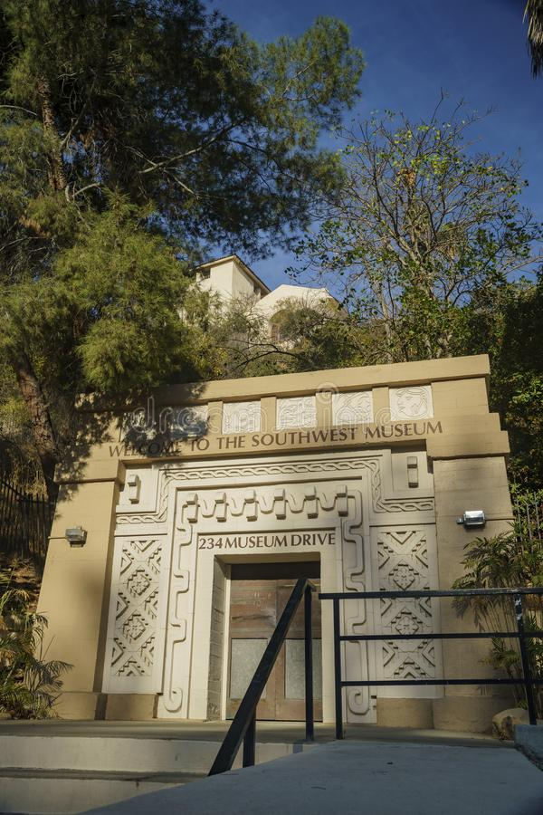 Entrance of Southwest Museum of the American Indian stock images