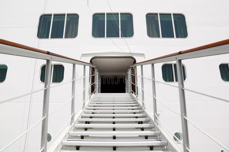 Download Entrance With Stairs In Cruise Passenger Liner Stock Image - Image of large, vacation: 16179831