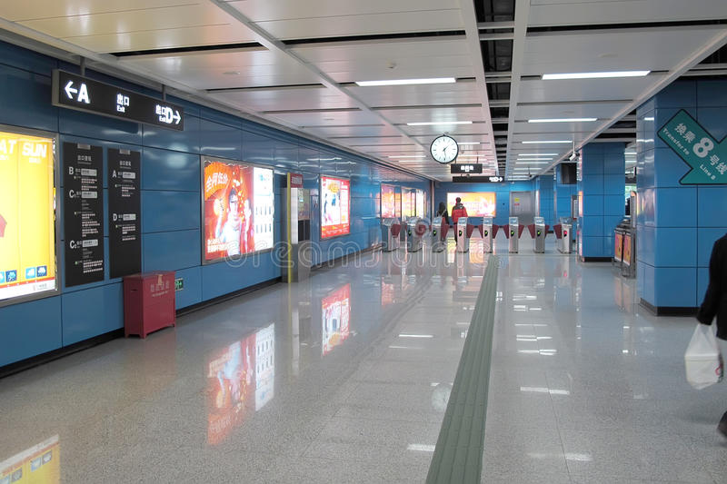 Download Entrance of subway station editorial image. Image of blue - 22838865