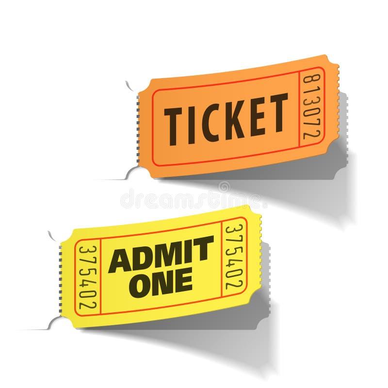 Entrance tickets vector illustration