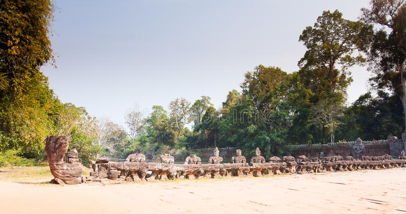 Entrance to amazing ruins of Preah Khan Temple 12th Century in Angkor Siem Reap, Cambodia stock photo