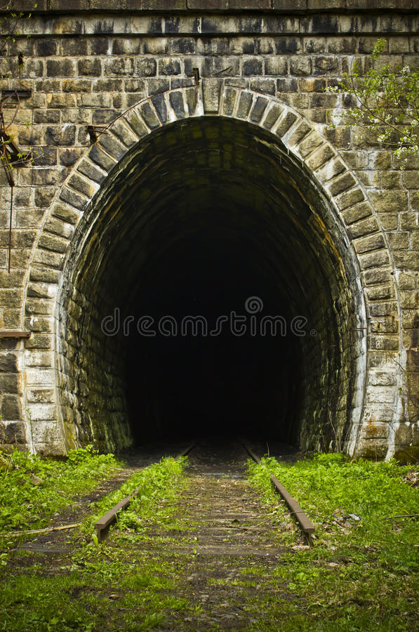 Free Entrance To An Abandoned Train Tunnel Royalty Free Stock Photos - 25724718