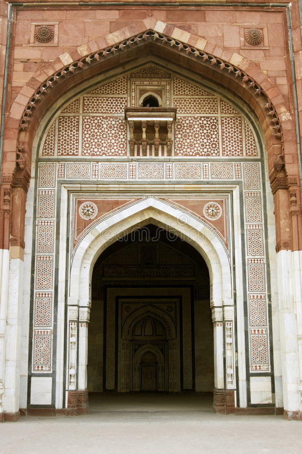 Entrance to Ancient Mosque royalty free stock image