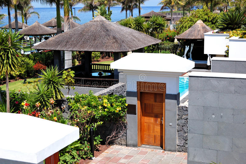 Entrance to the area of luxury villa