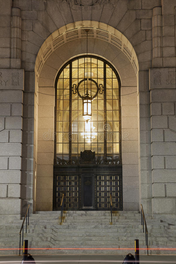Download Entrance To Art Deco Building Stock Image - Image of built, structure: 28310517