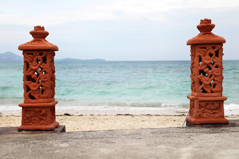 Entrance to the beach stock photography