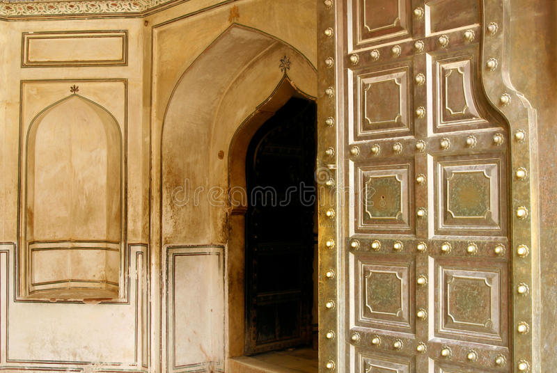 Entrance To A Beautiful Amber Fort In India Royalty Free Stock Photos