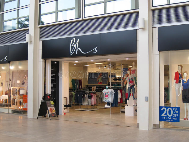 Download BHS store entrance., editorial stock photo. Image of lighting - 30190688