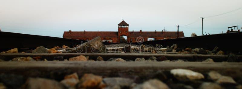 Entrance To Birkenau Editorial Photography