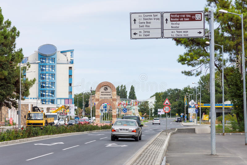 The entrance to the Bulgarian Nessebar stock image
