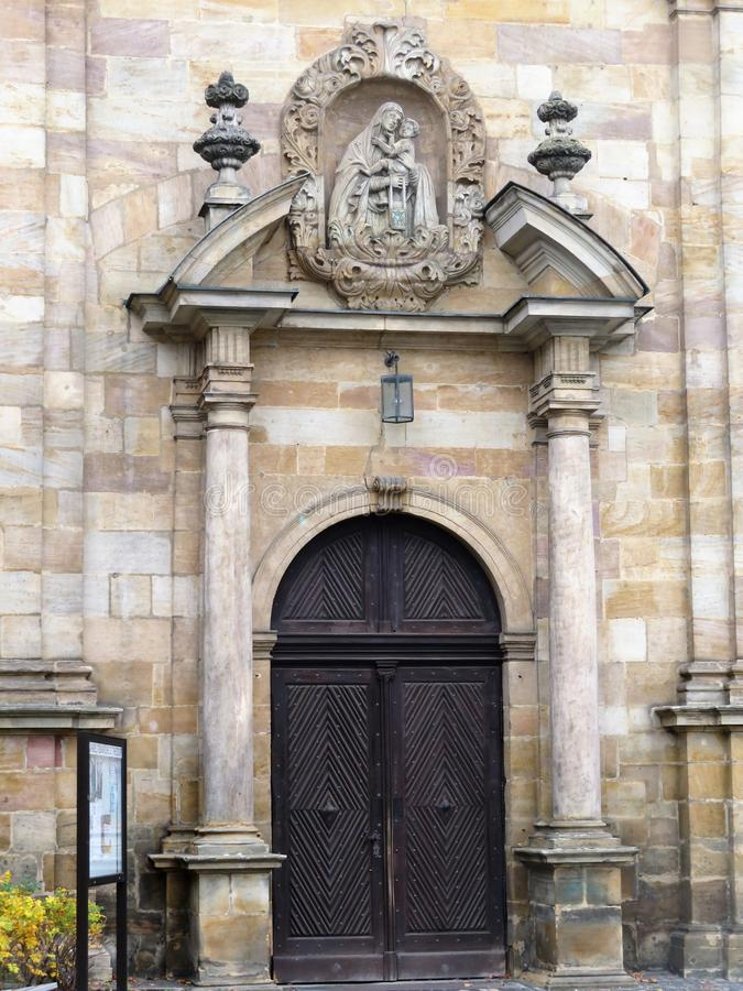 Entrance to the Carmelite Monastery royalty free stock photography