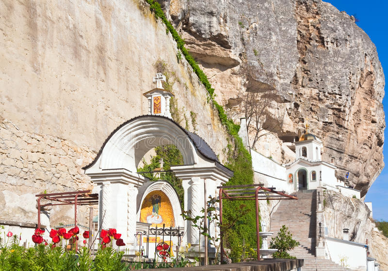 Download Entrance To The  Cave Monastery Stock Image - Image: 19285341