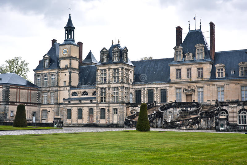 Download Entrance To The Chateau De Fontainebleau, Paris Stock Photo - Image: 27707656