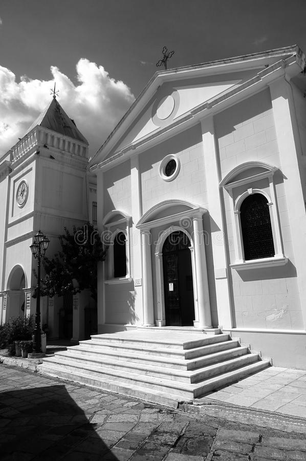 Download Entrance to the church stock photo. Image of greece, black - 39506774