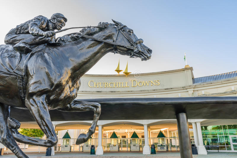 Entrance to Churchill Downs royalty free stock photos