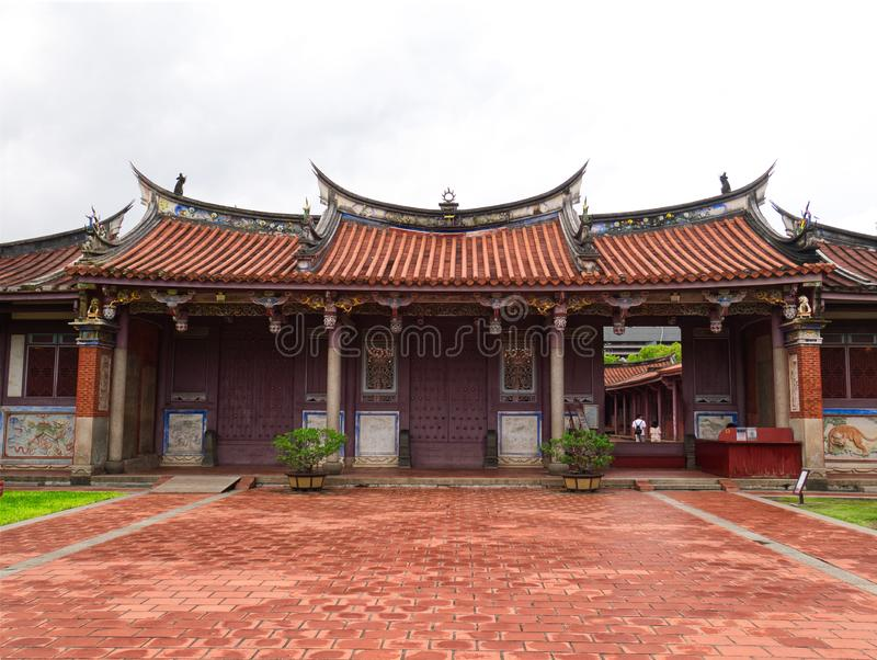 Entrance to Confucius temple, Traditional chinese architecture. Entrance to Confucius temple in Tainan, Taiwan. Traditional chinese architecture royalty free stock photography