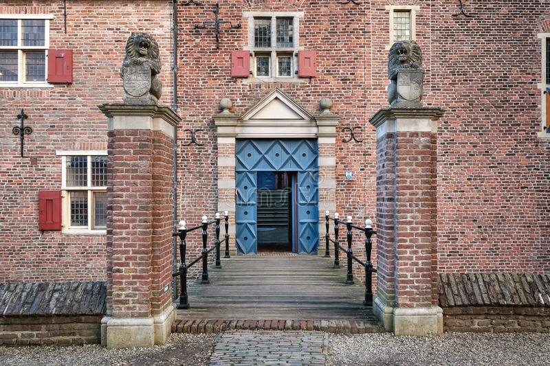 The entrance to the Dutch castle Doorwerth which is a medieval c stock photos