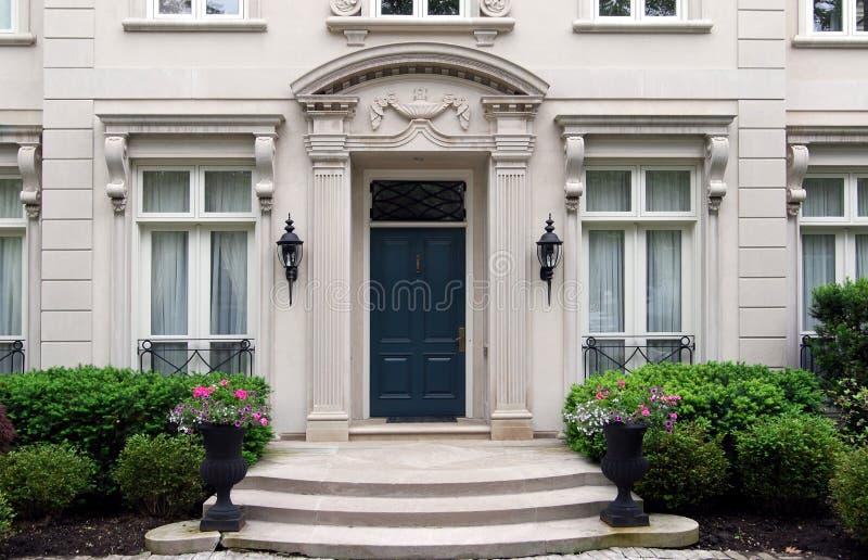 Entrance to elegant house royalty free stock photography
