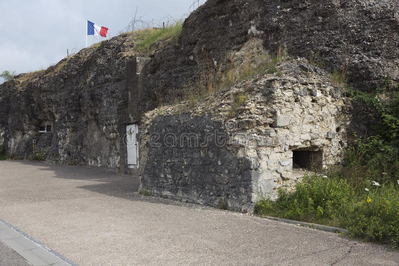 Entrance to the Fort of Vaux. France royalty free stock image