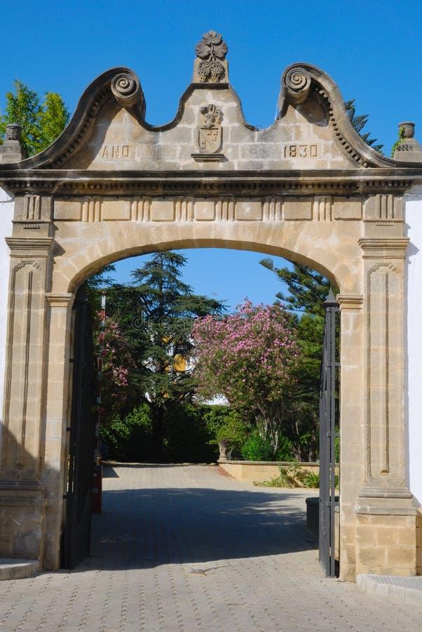 Entrance To Gardens Stock Photo
