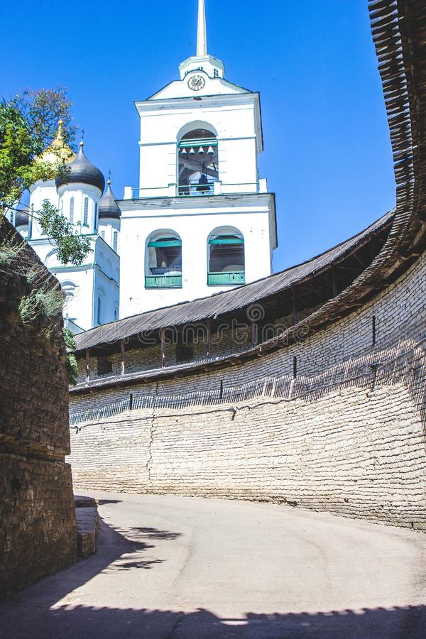 Pskov fortress royalty free stock photos