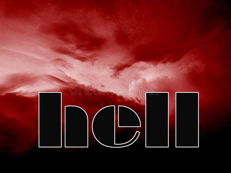 Entrance in to the hell stock photography