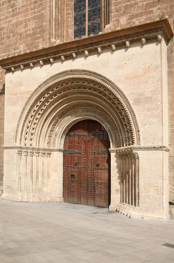 Entrance to the historic Cathedral royalty free stock photo