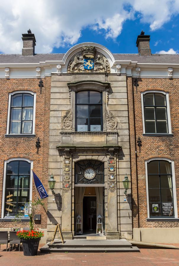 Entrance to the historic town hall of Lochem. Netherlands stock image